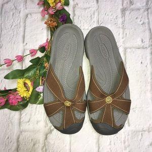 Keen Bali Brown Slip On Sandals Slides